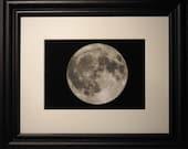 Astronomy Framed Print, Full Moon, Framed Art, Father's Day Gift, Men's gift idea, Graduation Gift