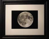 Astronomy Framed Print, Full Moon, Framed Art, Father's Day Gift, Men's gift idea, Graduation Gift
