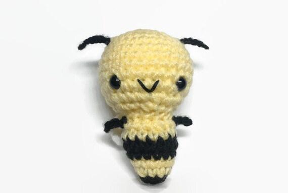 Bee Gift Bee Crochet Toy Bee Stuffed Animal Bumble Bee Etsy