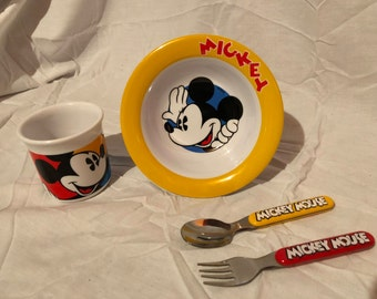 Kids Dinner Set Mickey Mouse Plastic Mickey & Co.