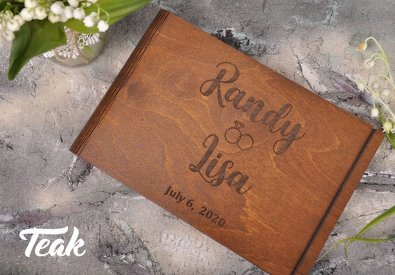Polaroid Photo Album Livre D Or Mariage Wood Guest Book Wedding Guest Book