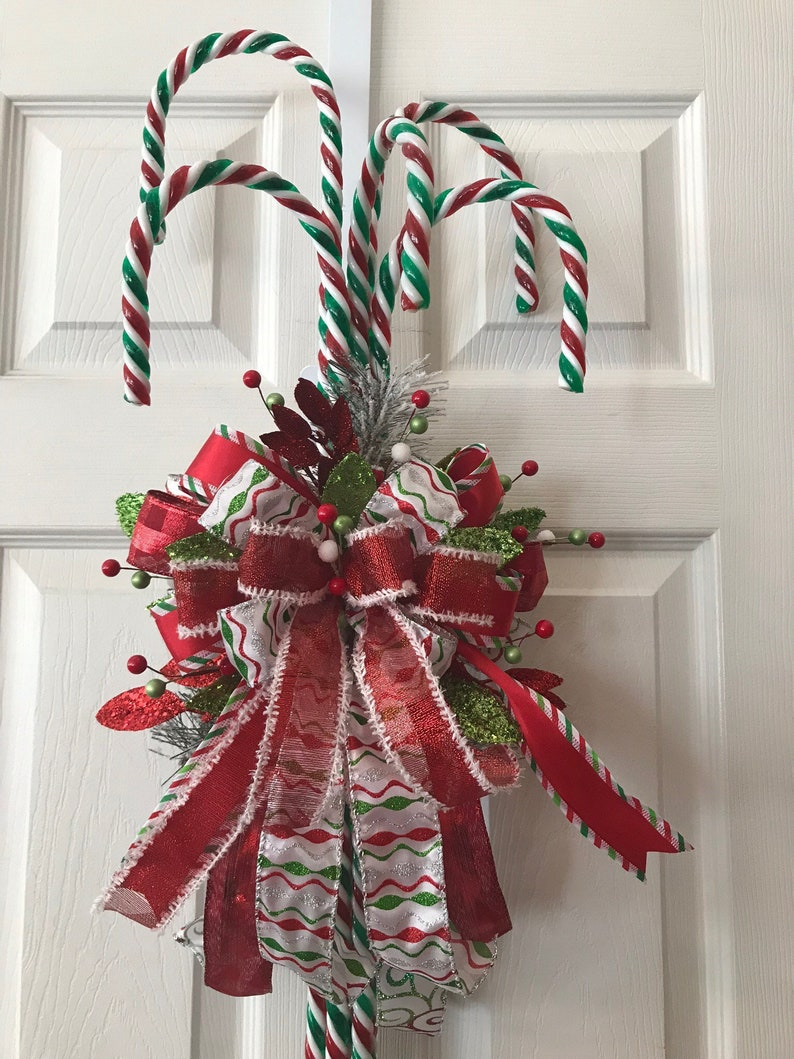 Candy Cane Door Hanger, Christmas Door Decor, Christmas Door Hangers,  Winter Decor, Door Hangers, Candy Cane Decor