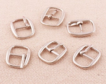 Square Roller Pin BuckleSquared Small shoes belts pin buckleBags Purse Belt Strap Slider Buckles-25mmx20mm*24pcs