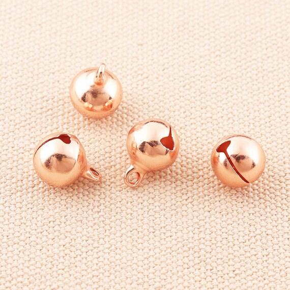 50pc Jingle Bells Rose Gold Bells Make Clear Sound 10mm  Jingle Bells charms Christmas Bells