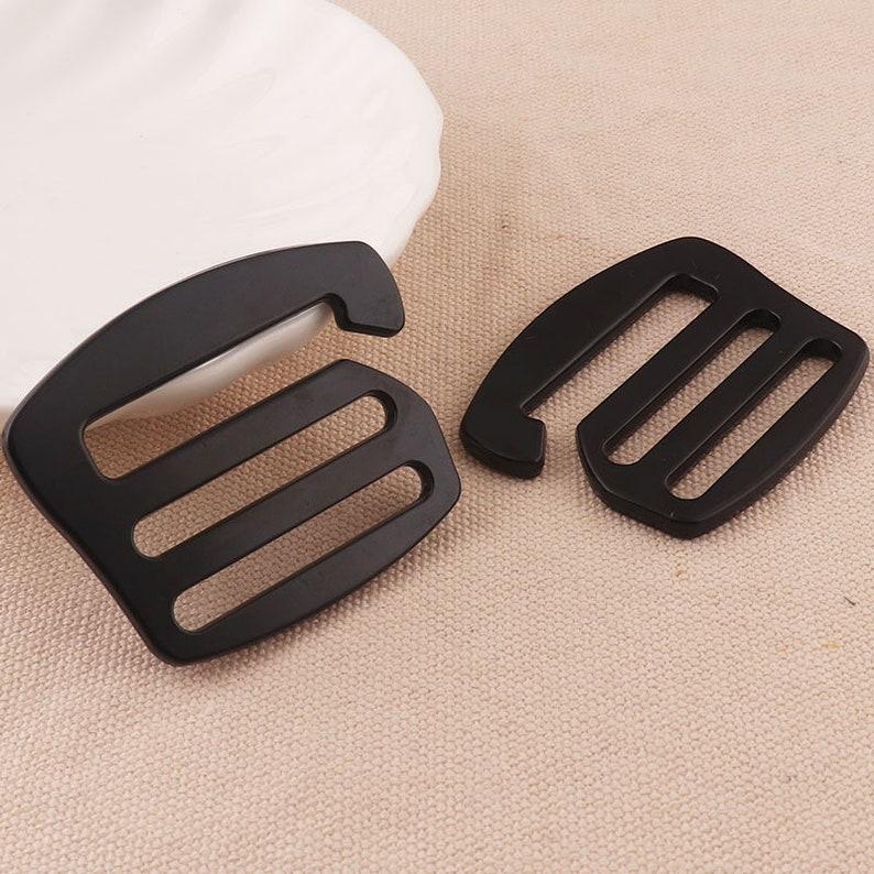 4pcs Bra Strap Slider Hooks G Hooks Swimwear and Bra making alloy hooks slider buckle black color for garment accessories 35mm