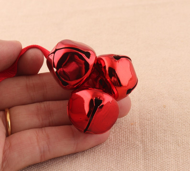 5sets 24mm large red color jingle bell Christmas Decoration Bell metal party wedding bells diy handmade accessories