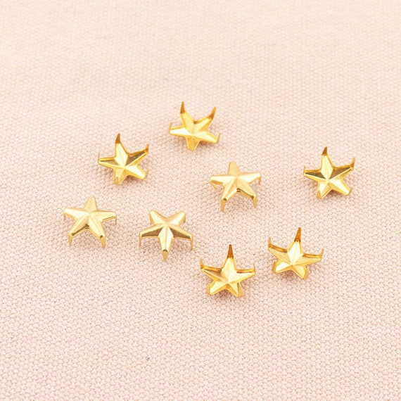 28mm Star Nail Head Studs for Sewing Jacket Coat Crafts Purses Decoration 10mm