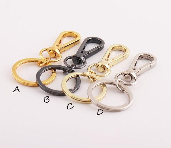 Llavero de piel de calidad clave del llavero redonda para/enganchar a cintur/ón de pantalones o bolso