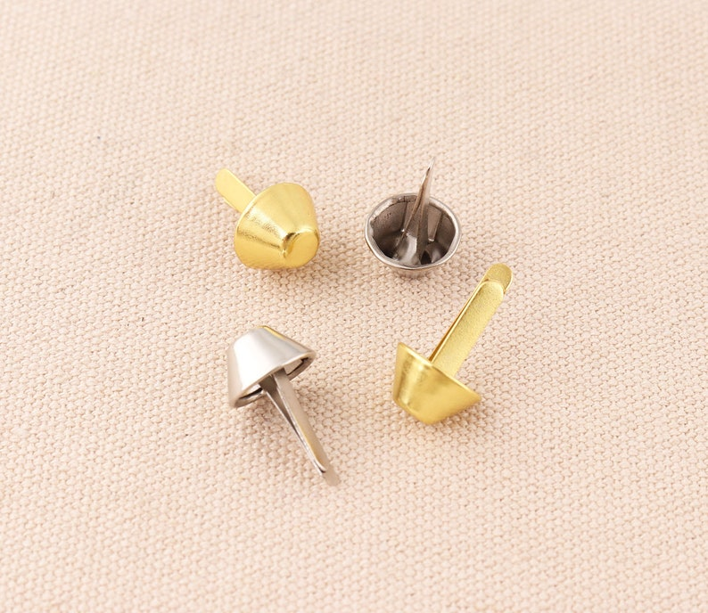gold and silver PURSE FEET Studs nailhead flat head brads silver 20*12mm Nailheads Spike DIY Purse Making leather making