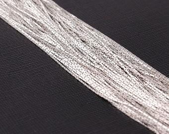 You Choose Length--Plain Simple Silver Thin Chain, Bulk Chain, Jewelry Making Chain, Silver Women chain,Chains DIY Making