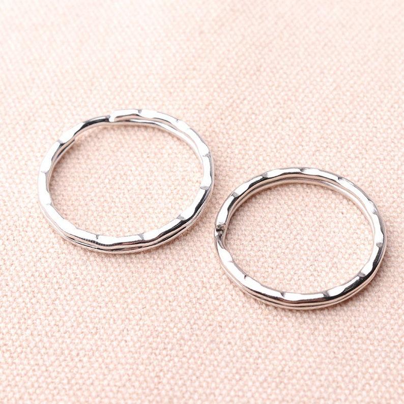 30mm 28mm Silver Round Key Rings Keychain Rings Split Ring Keyring Split key ring Split Keyring Iron Key Ring
