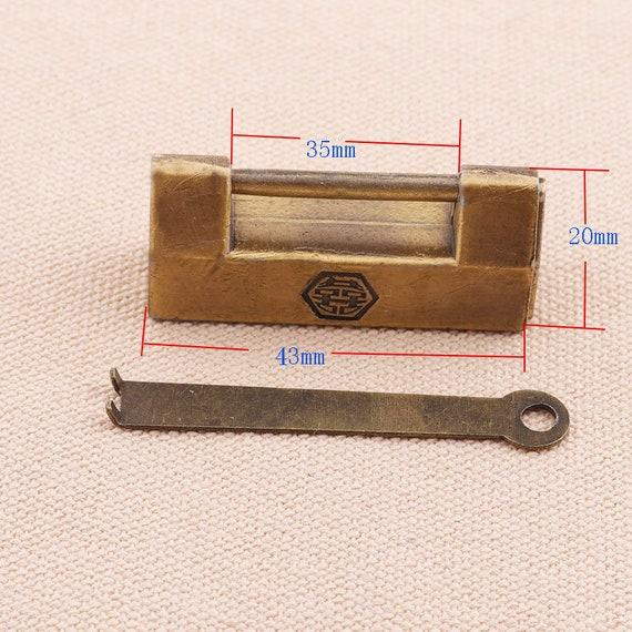 10PC Screw eye Vintage Brass Tone Wallet Purse Handbag Connector