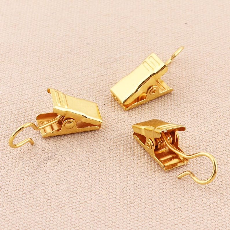 20pcs gold  Alligator Clips metal  alligator clip with teeth bulk clips crocodile clips spring clips snap hook clasp