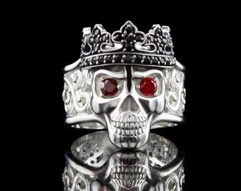 Women skull ring Santa Muerte ring  Bikers jewelry Skull jewelry Adjustable ring Dimensionless ring Queen skull
