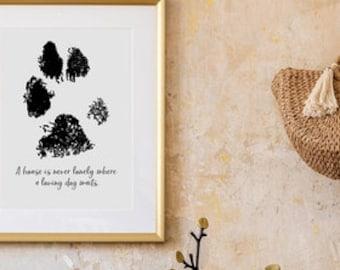 Digital Paw Print Photo • Custom Paw Print • Digital Rendering • Paw Print Editing • Pet Memorial • Pet Loss • Pet Keepsakes • Dog Paw