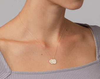 Custom Image Multi Disc Necklace • Custom Handwriting • Actual Footprint & Handprint Necklace • Fingerprint Necklace • Paw Print Necklace