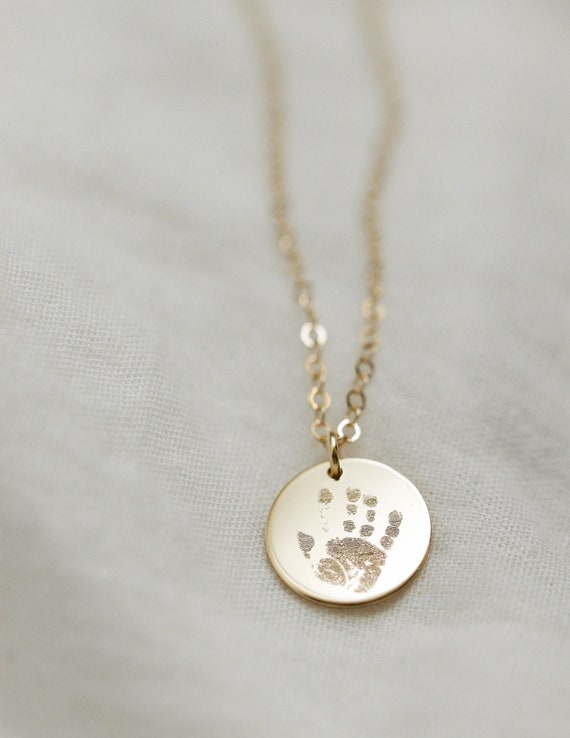 Custom Handprint Jewelry Your Childs ACTUAL Handprint Sterling Silver Handprint Necklace- Mom Necklace Personalized Handprint Necklace