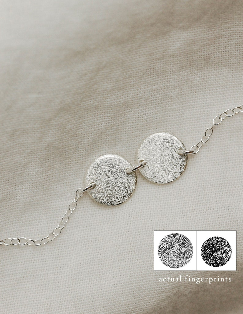 Mini Fingerprint Necklace  Fingerprint Jewelry  Personalized image 0