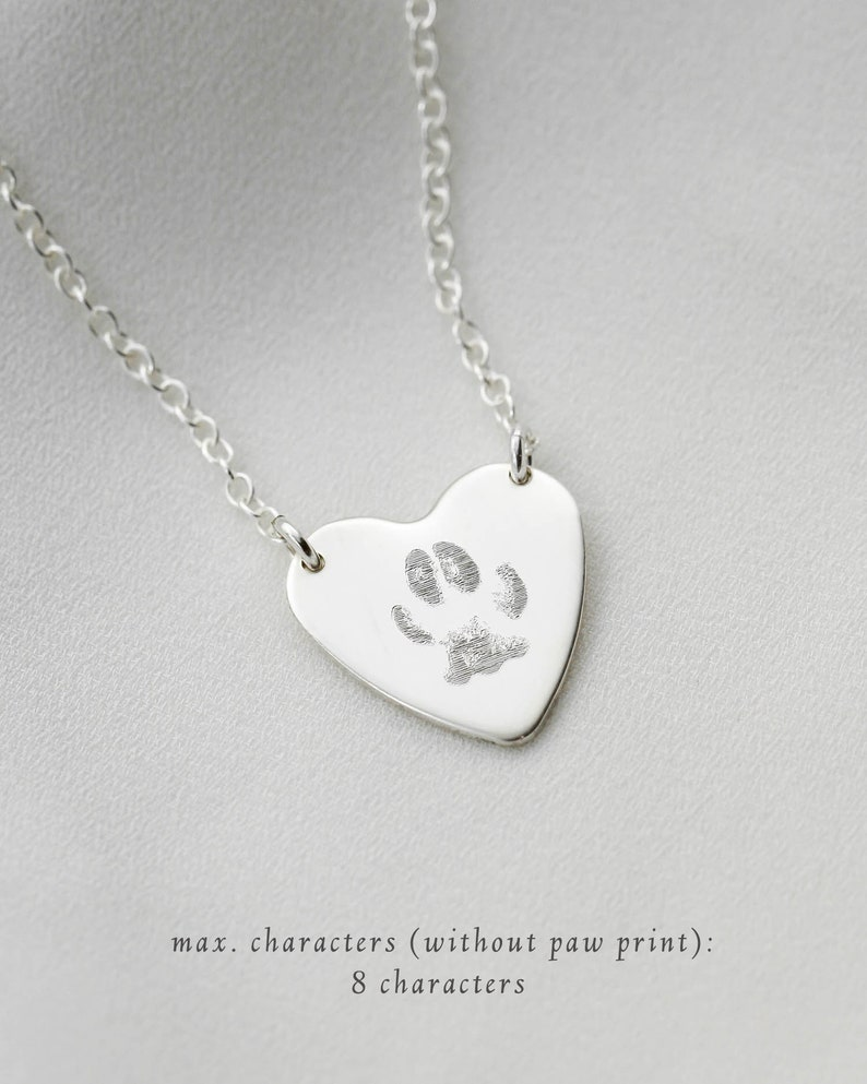 Cat Name \u2022 Animal Lovers Custom Paw Print Necklace \u2022 Pet Name Bar Necklace \u2022 Pet Necklace \u2022 Actual Paw Print \u2022 Pet Memorial \u2022 Dog Name