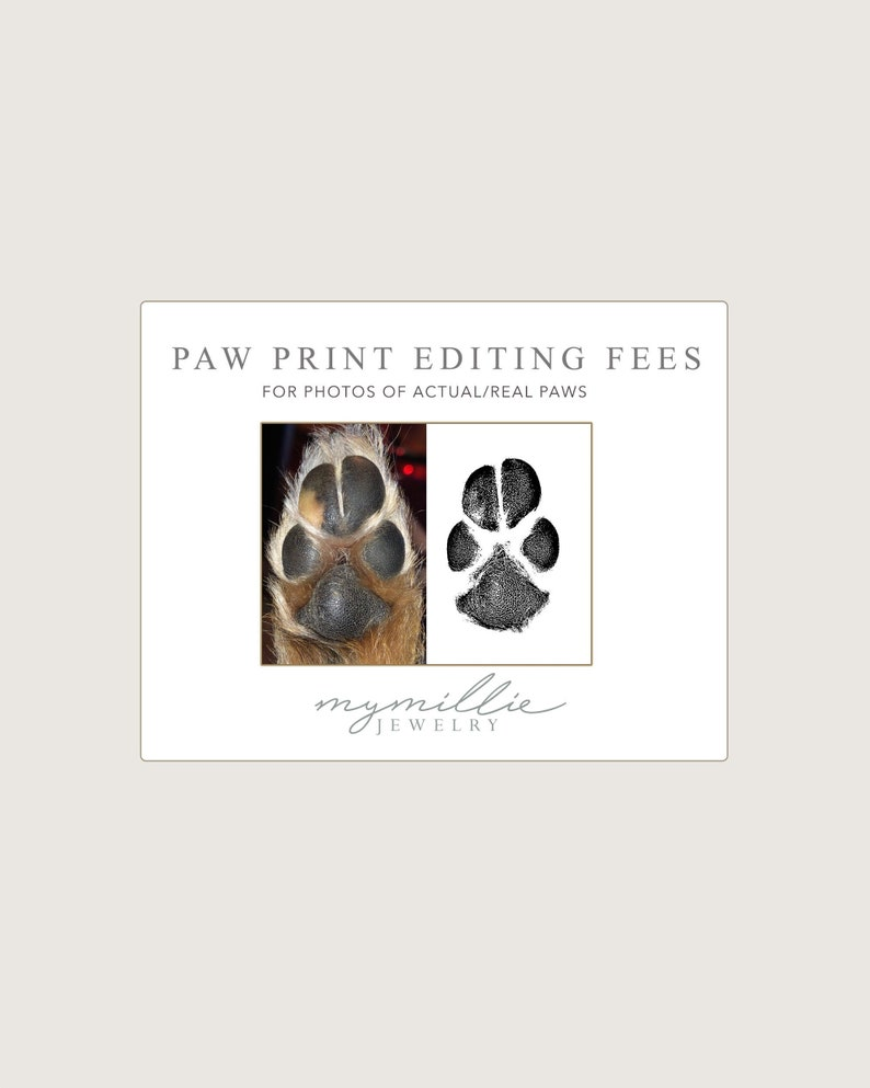 Paw Print Editing Fees For Photos of Actual Paws image 0