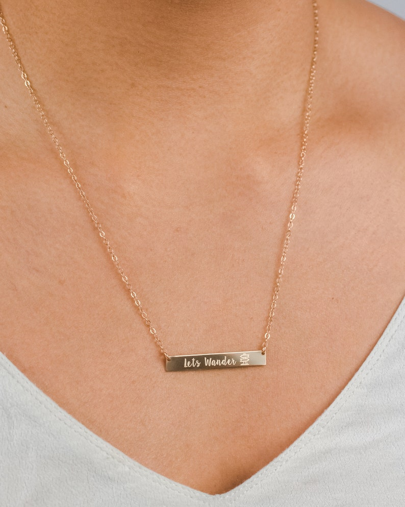 Travel Necklace  Explore Mountain Necklace  Outdoors Lover  image 0