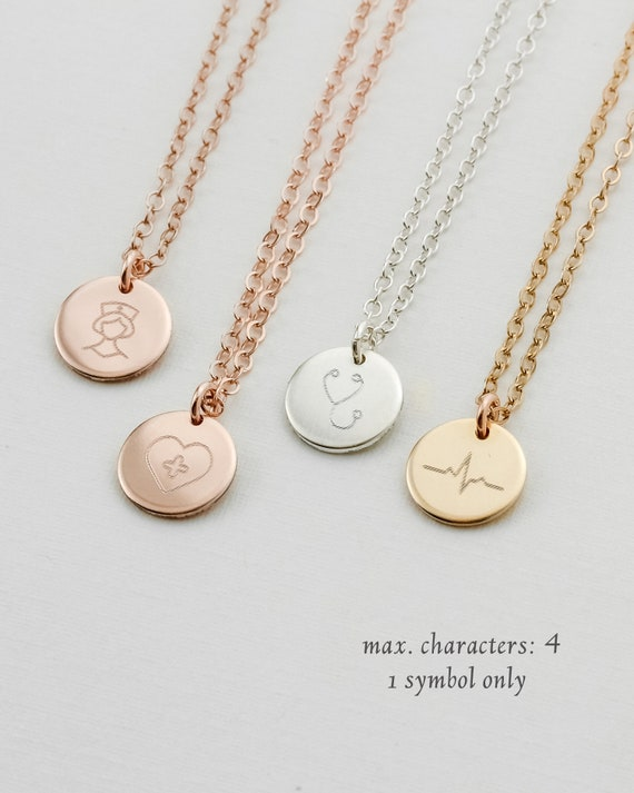 Nurse Heartbeat Military Brand Necklace Dog Tag Stainless Steel Chain Pendant Keyring