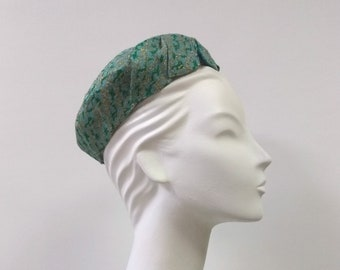 969aefa3f84 Vintage 1950 s Green   Gold Percher Hat