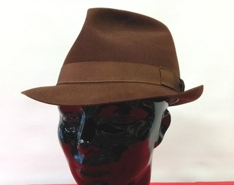 35ed0ae2ef18d Vintage Fur Felt Trilby Brown