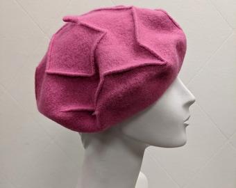 Winter Hat Berets for Women French Style Autumn Hat Grey Wool Felt Leaf Decoration Beret Beret Fascinator Unique Beret