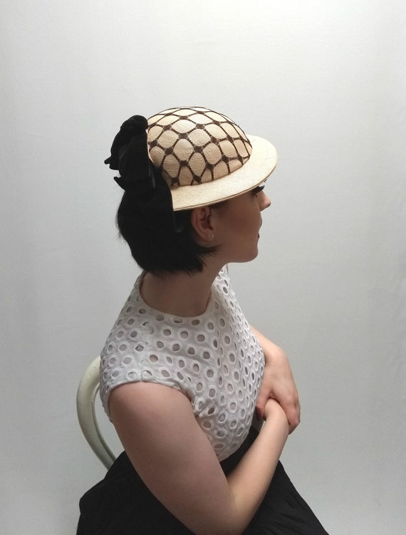 1950's Vintage Ladies Formal Occasion Percher Hat… - image 1