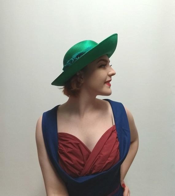 Vintage Emerald Green Ladies Occasion Hat Wedding Hat Formal  dee9991c7ae