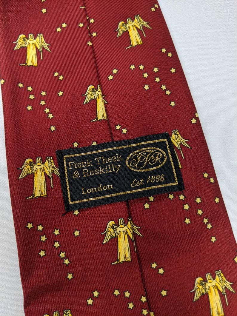Vintage Tie Virgo Angel Print Burgundy Tie Men/'s Neck Tie 100/% Silk Vintage Novelty Zodiac Print Tie