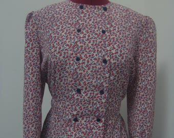 Red/Blue vintage blouse