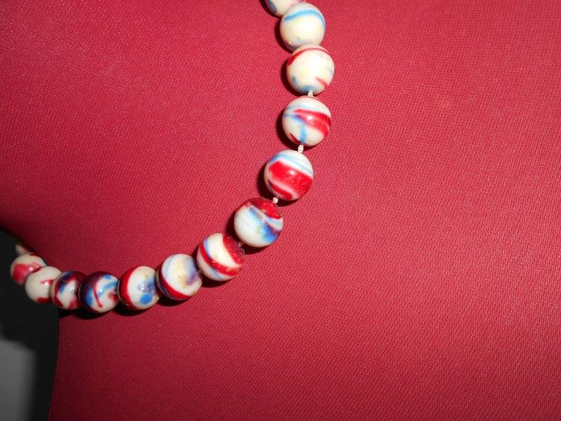 Retro styled bead necklace