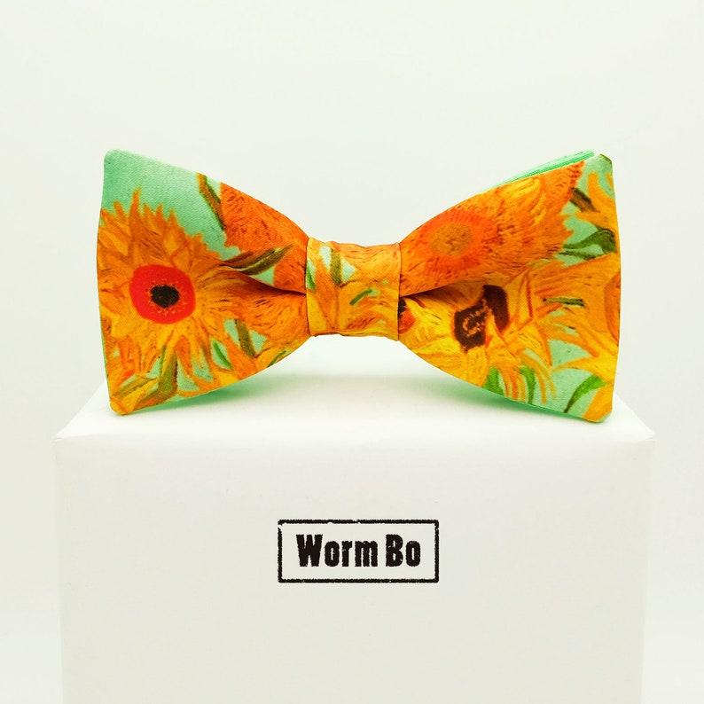 Van Gogh Fliege 12 Sonnenblumen Bowtie Art Fliege Etsy