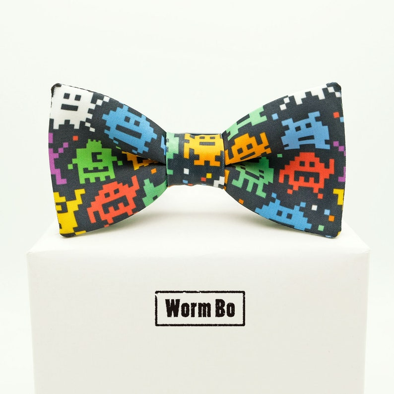 a14f80888 Pixel Bow tie Colorful bowtie 8 bit Cute Monsters   Etsy