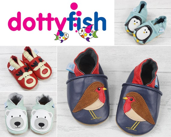 Robot 3-4 Years 0-6 Months Dotty Fish Soft Leather Baby /& Toddler Shoes