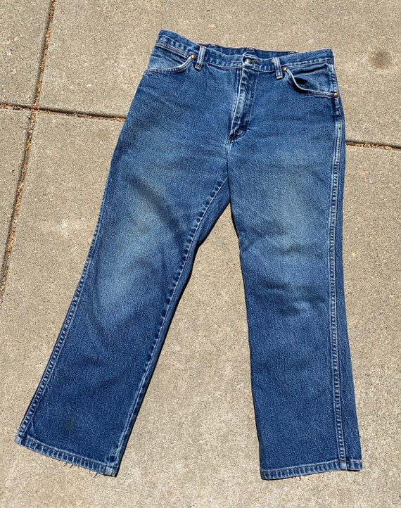 Wranglers Blue Cropped Jeans - image 3