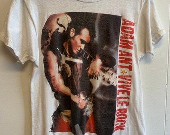 Adam Ant Vive Le Rock tour 1985 T-shirt