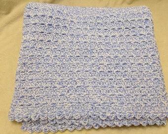 Crochet Blue baby Blanket