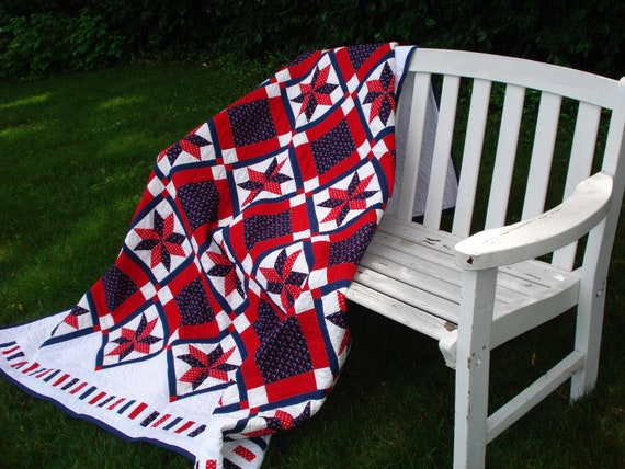 Enjoyable Made In America Patriotic Red White Blue Quilt Pdpeps Interior Chair Design Pdpepsorg