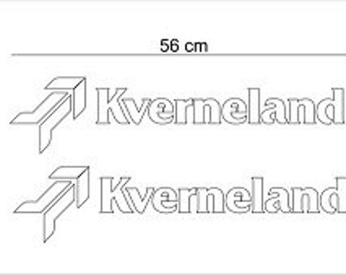 56 x 14 cm white KVERNELAND Plough decal set