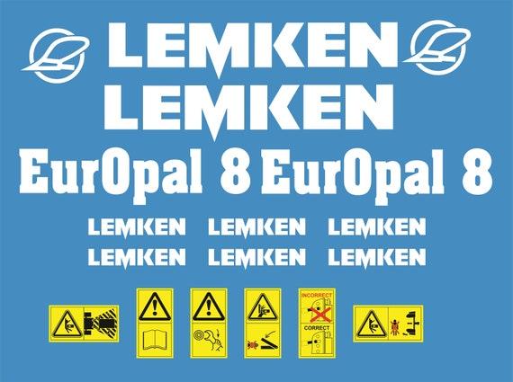 LEMKEN EurOpal 8 Plough decal set replica