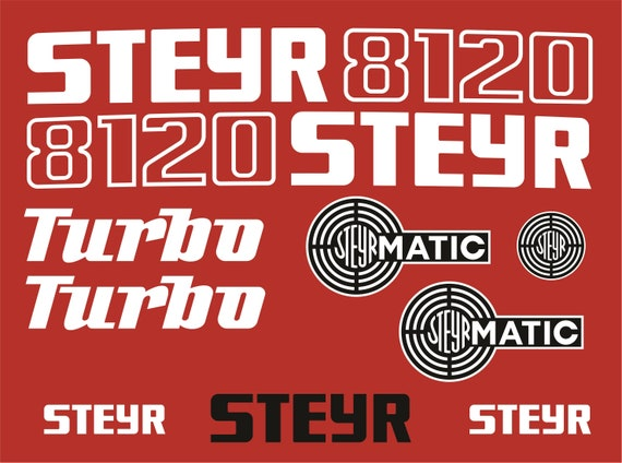Steyr 8120 Traktor Aufkleber Set Replik