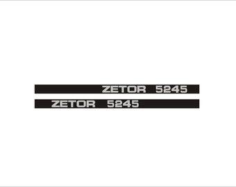 ZETOR 5245 - Tractor decals set, replica