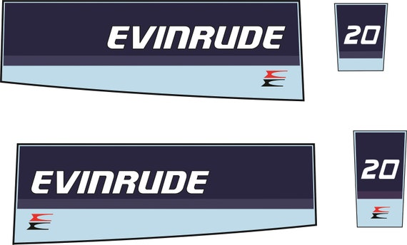 Evinrude 20 Outboard Decal Set Replica Etsy