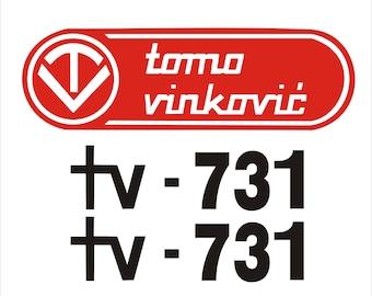 TOMO VINKOVIC 731 - Tractor decals set, replica
