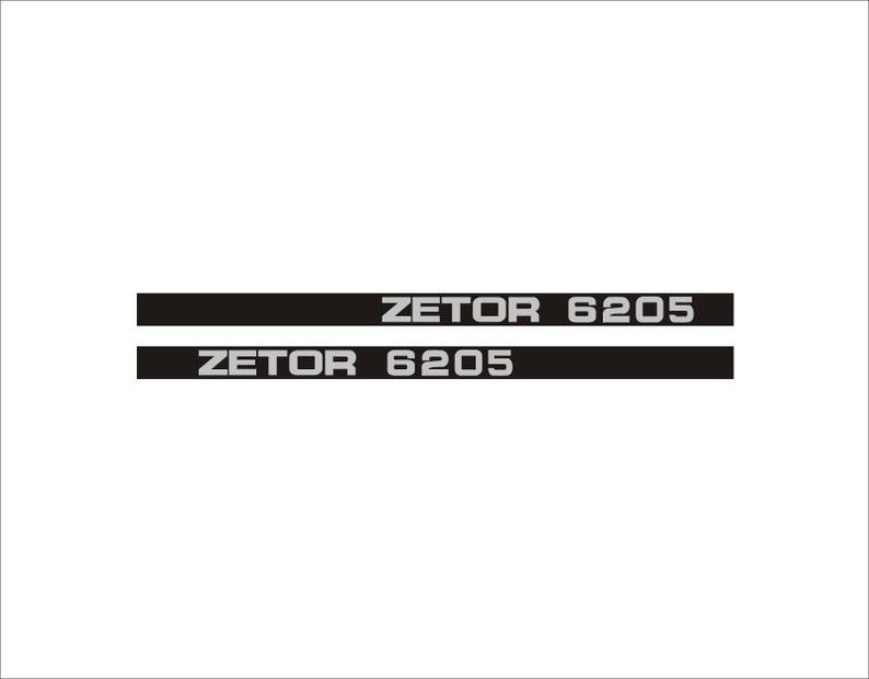 Zetor 6205 Traktor Aufkleber Set Replik