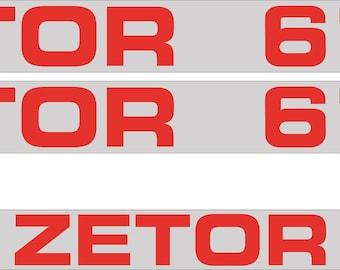 ZETOR 6718 - Tractor decals set, replica