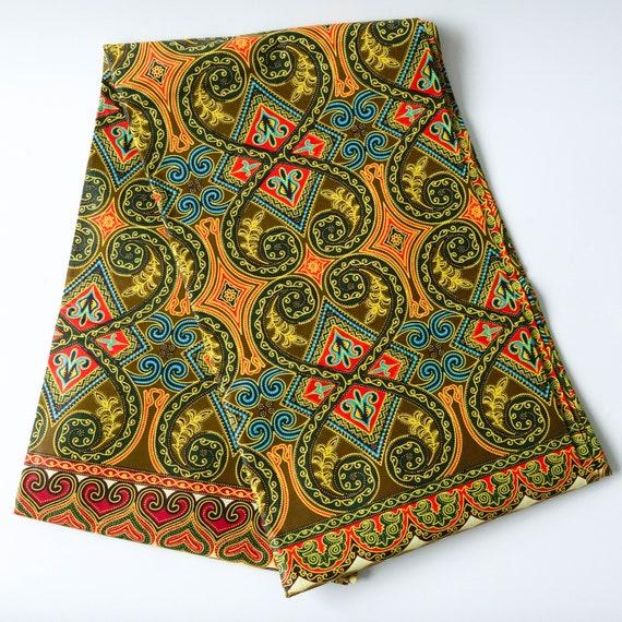 African Cotton Print Fabric Ankara Wax Beautiful Bright Colors 1 Yard or 6 Yards